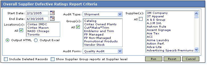 Cintas Quality Audit Tracking System